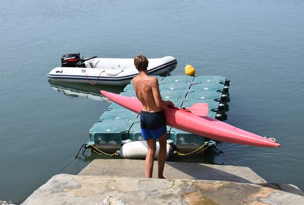 Aprender-Ingles-Campamentos-de-verano, actividad kayaking
