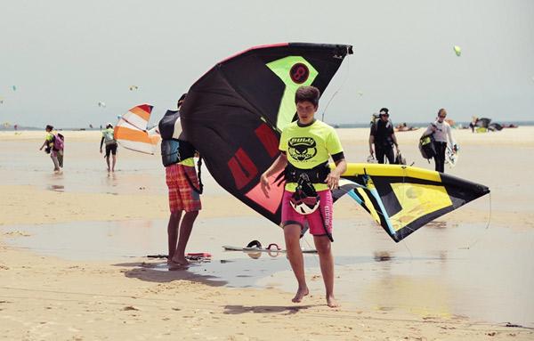 Kitesurf-summer-camp-teens-in-Tarifa-Spain, Los Lances Beach