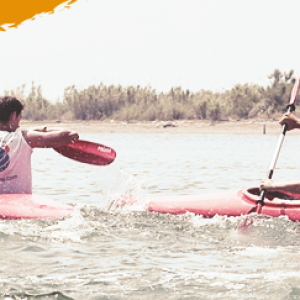 adventure camp for teenagers, kayak competition young students
