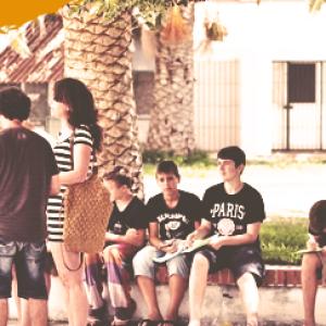 sommercamp für jugendliche, Lenguaventura Teilnehmer mit Lehrer