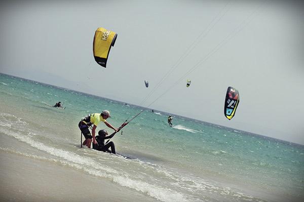 Kitesurf camp for teens, beachstart