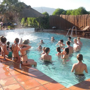 summer camps for teens tarifa, enjoy a summer evening in the pool