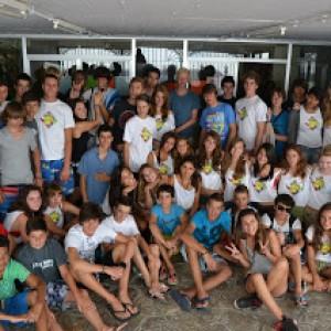 summer camps for teens tarifa, group picture residencia escolar tarifa
