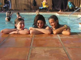 summer camps for teens, campers in pool pacha mama