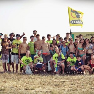 The Bull Summer Games, kite surf competition during the summer camp