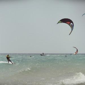 kitesurf camp for teens, kiteboarder los lances beach