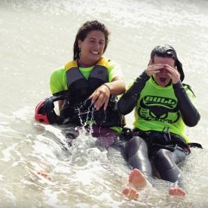 kitesurf camp for teens tarifa, laughing kitesurf girls