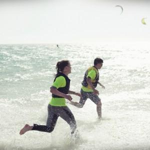 kitesurf camp for teens tarifa, beach fun lenguaventura students