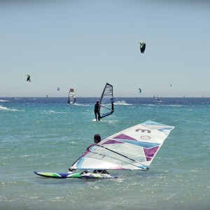 windsurf camp for teens tarifa, practising windsurf