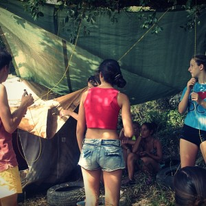 adventure camp for teens tarifa, practising survival in nature
