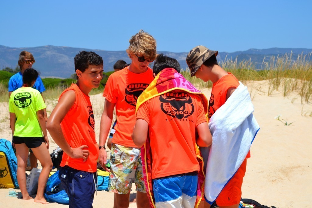 Kitesurf camp for teens, Los Lances Beach, Tarifa, Spain