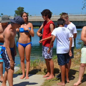summer camps for teens, before the activity starts