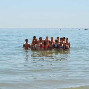 summer camps for teens, group photo Marblla beach