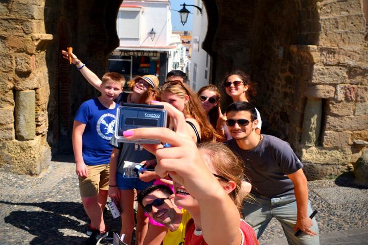 Summer camp for teens, selfie Puerta de Jerez