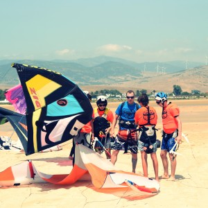 kitesurf camp for teens, kite and lines