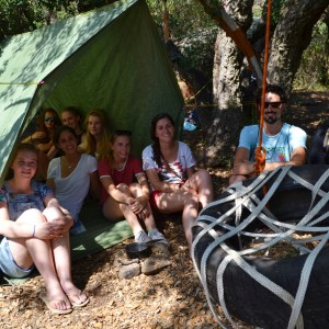 adventure camp for teens, building a shelter