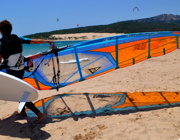 International-summer-Windsurfcamp-Spain, Playa Valdevaqueros, Tarifa