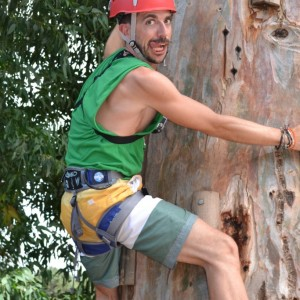 adventure camp for teens, Adrian climbing up a tree