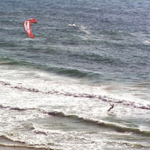 Youth kitesurfing camps in spain, kitesurfers enjoying themselves