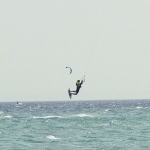 kitesurf camps for juniors, enjoying a levante day
