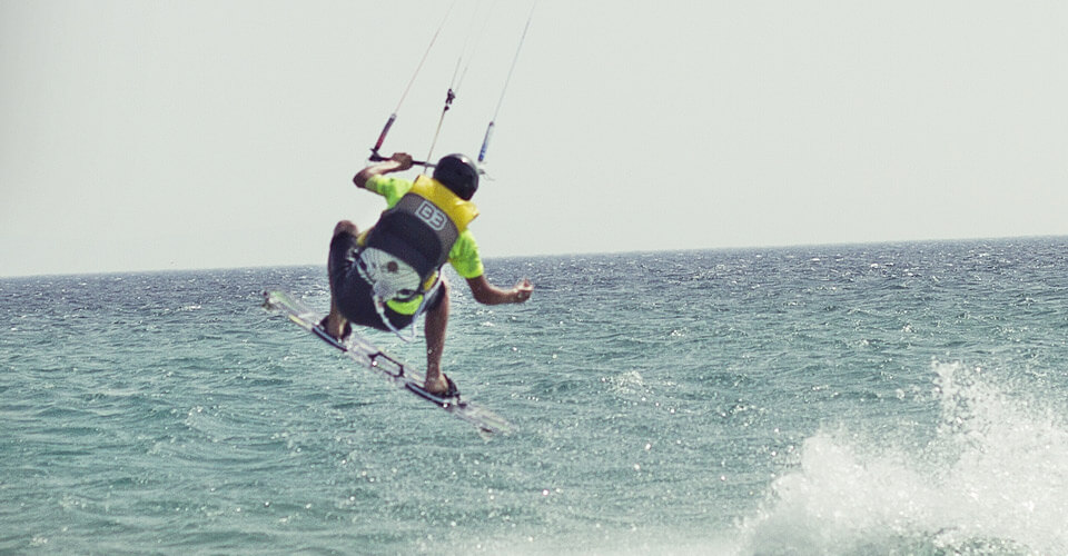 Kitesurf youth summer camp Andalusia, jumping kitesurf beach Los Lances
