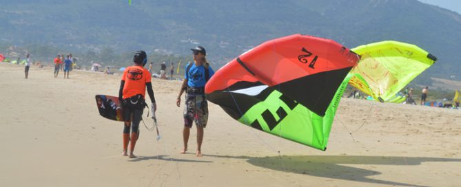 Teenage kite surf camp, learning the safety instructions