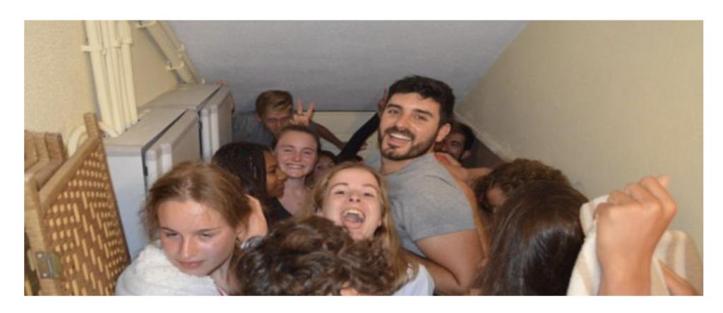 teenager summer camp, hide and seek