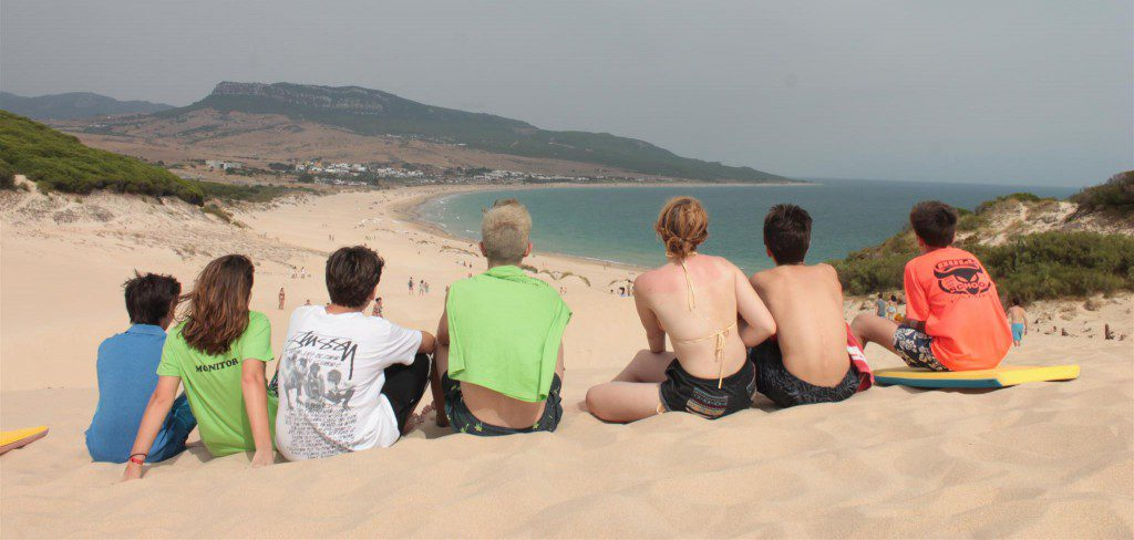 spain summer camps, enjoy lovely views beach tarifa