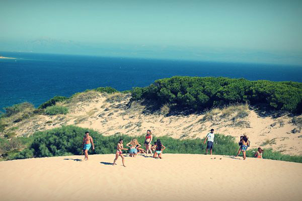 Teenage-summer-camps, dunes in Tarifa