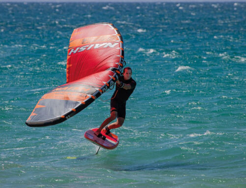 New kite on the block – Robby Naish's wing surfer