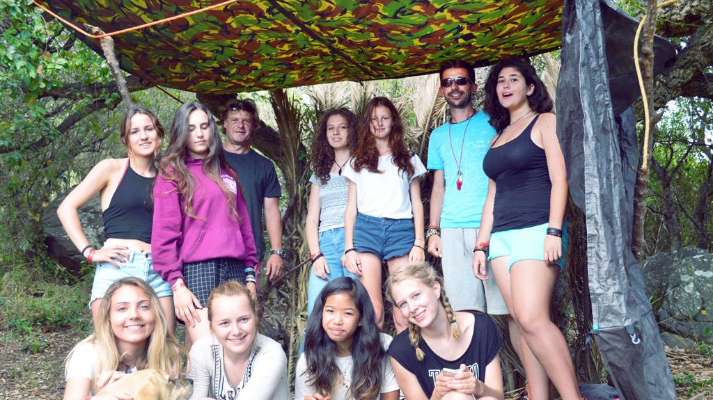 Adventure-camp-Tarifa, activity in the woods