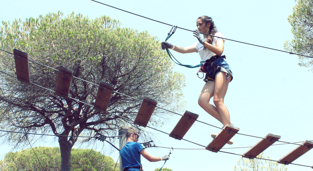 Adventure-camp-for-teens-in-Tarifa, adventure park in Southern Spain