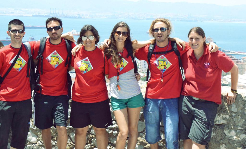 equipo-de-Lenguaventura, campamento de verano en Tarifa